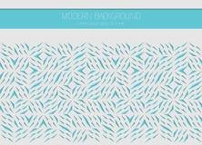 Декоративная белая карточка для резать Абстрактные голубые линии картина черепков Отрезок лазера Иллюстрация геометрического диза бесплатная иллюстрация