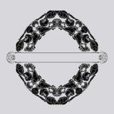 Декоративная винтажная морская картина Раковины и волны в стиле doodle Стоковая Фотография