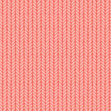Декоративная вязать картина оплеток безшовная Стоковая Фотография RF