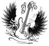 декоративная гитара иллюстрация вектора