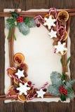 Декоративная граница предпосылки рождества Стоковые Изображения RF
