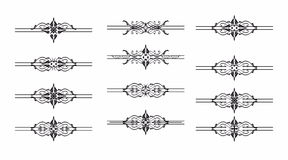 Декоративная графическая картина элемента иллюстрация вектора