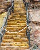 Декоративная деревянная лестница в парке Стоковое Изображение RF