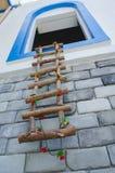 Декоративная лестница от ветвей дерева Стоковое Фото