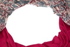 Декоративная задрапировывая рамка ткани Диаграмма шарфа ` s женщин красная великобританский флаг Стоковое фото RF