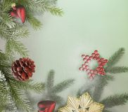 Декоративная задняя часть рождества Стоковые Изображения RF