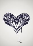 Декоративная иллюстрация сердца Стоковое Изображение RF