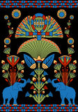 декоративная индийская картина иллюстрация вектора