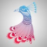 Декоративная иллюстрация головы павлина Стоковые Изображения RF