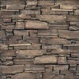 Декоративная каменная стена - безшовная предпосылка - каменная текстура Стоковое Изображение RF