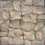 Декоративная каменная стена - безшовная предпосылка - каменная текстура Стоковые Изображения RF