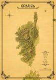 Декоративная карта Корсики Стоковые Изображения RF