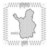 Декоративная карта Лапландии Стоковое Изображение RF