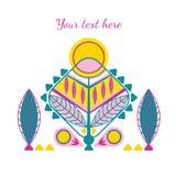 Декоративная карточка abstarct Стоковое Изображение RF