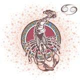 Декоративная Карцинома знака зодиака Стоковые Изображения