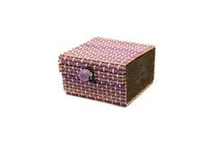 Декоративная коробка дальше на изолированной белой предпосылке изолировано стоковое фото