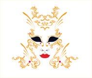 декоративная маска иллюстрация вектора
