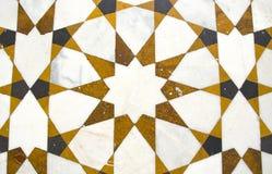 Декоративная мраморная предпосылка пола в азиатском виске, Индии Стоковые Фотографии RF