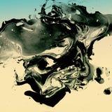 Декоративная мраморная текстура абстрактная картина Ультрамодная предпосылка для печатать и вебсайтов Краски цвета на белизне Стоковые Фотографии RF