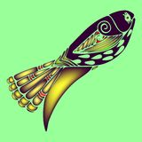Декоративная покрашенная иллюстрация eps10 вектора рыб 3d Стоковое Фото