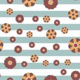 Декоративная предпосылка нашивки цветков Стоковое Фото