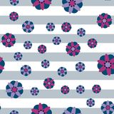 Декоративная предпосылка нашивки цветков Стоковая Фотография RF