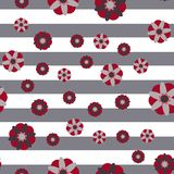 Декоративная предпосылка нашивки цветков Стоковое Изображение