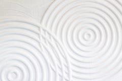 Декоративная предпосылка стены белого цемента абстрактных волн closeup Стоковые Изображения