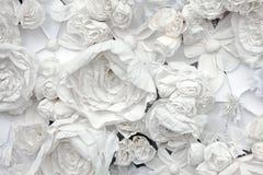 Декоративная предпосылка от цветков белой бумаги стоковое фото