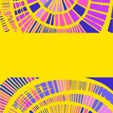 Декоративная предпосылка с круговыми элементами Иллюстрация вектора