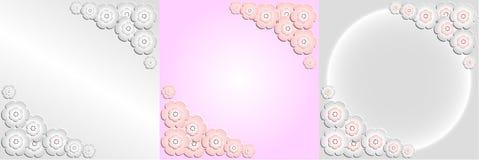 Декоративная рамка бумажных цветков Сакуры Стоковое Изображение RF
