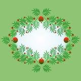 Декоративная рамка рамки хворостин рождества для приветствий, приглашений, партий, объявлений, предпосылок, etc стоковые изображения rf