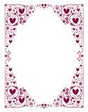 Декоративная рамка сердец Стоковые Фотографии RF