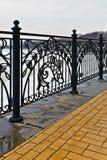 Декоративная решетка в рыбацком поселке. Калининград, Россия Стоковые Фотографии RF