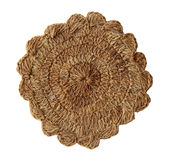 Декоративная связанная ткань сделанная пеньки handmade Стоковая Фотография