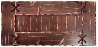Декоративная старая деревянная доска изолированная на белой предпосылке стоковая фотография rf