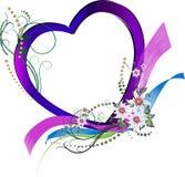 декоративная флористическая влюбленность сердца Иллюстрация вектора