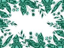 Декоративная флористическая геометрическая рамка с цветками Яркие цветы бесплатная иллюстрация