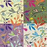 декоративная флористическая побудительная плитка Стоковая Фотография RF