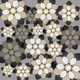 Декоративная флористическая предпосылка с цветками на серой предпосылке Стоковое Изображение