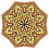 Декоративная, флористическая, симметричная мандала Стоковое фото RF