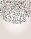 Декоративная цветастая иллюстрация цветка Стоковое Изображение RF