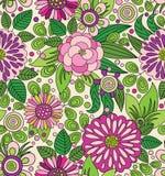 Декоративная цветастая рисуночная безшовная картина Стоковое Изображение RF