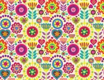 Декоративная цветастая смешная безшовная картина Стоковые Изображения