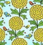 Декоративная цветастая смешная безшовная картина Стоковая Фотография RF