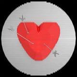 Декоративная цель панели конструировала как сердце с стрелками иллюстрация 3d Стоковое фото RF
