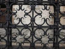 Декоративная часть загородки в замке Wawel в Cracow Стоковые Изображения