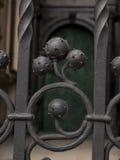 Декоративная часть загородки в замке Wawel в Cracow Стоковая Фотография