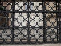 Декоративная часть загородки в замке Wawel в Cracow Стоковая Фотография RF