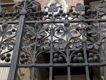 Декоративная часть загородки в замке Wawel в Cracow Стоковые Фотографии RF